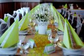 Vintage dekorace - světle zelená + krajky,