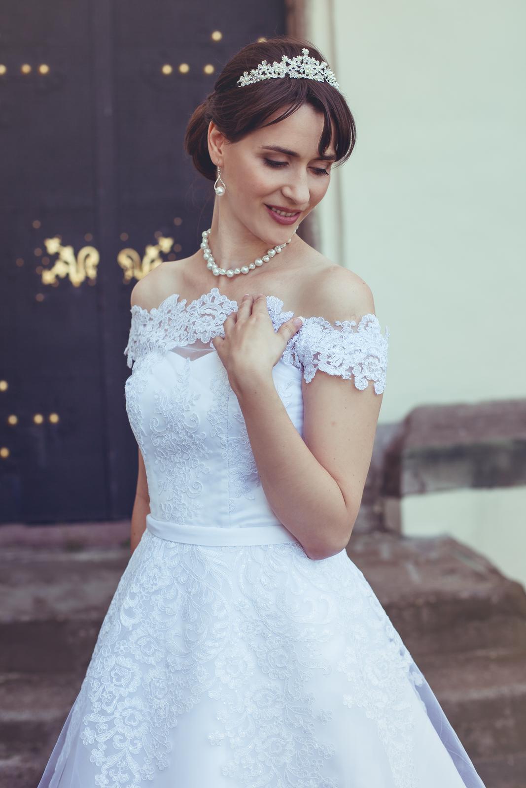 princeznovské svadobné šaty 36-38  - Obrázok č. 1