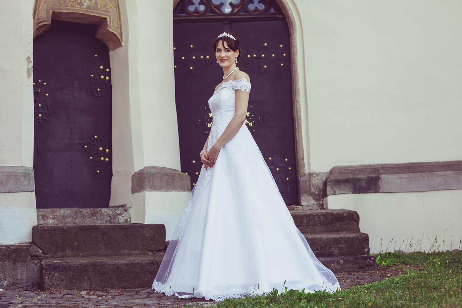 princeznovské svadobné šaty 36-38  - Obrázok č. 2