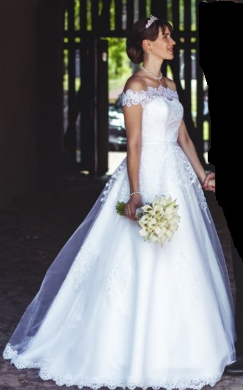 princeznovské svadobné šaty 36-38  - Obrázok č. 4