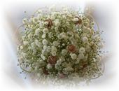 ŽIVÁ - Svadobná kytica Gypsophilla,