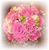 ŽIVÁ - Svadobná kytica Pink,