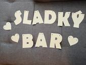Nápis Sladký bar,
