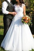 svadobné šaty na šnurovačku pre veľkosti 38-42, 40