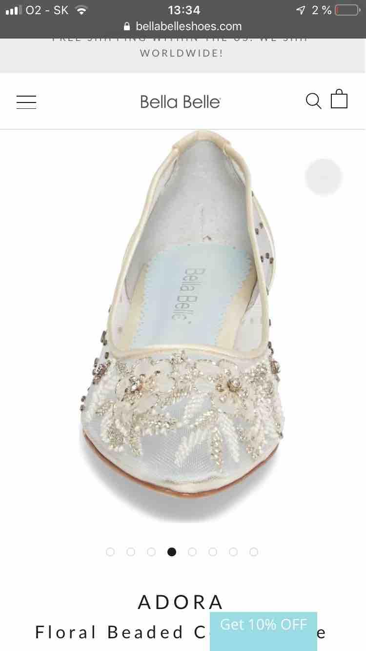 Moje svadobné topánky / balerínky - Obrázok č. 2