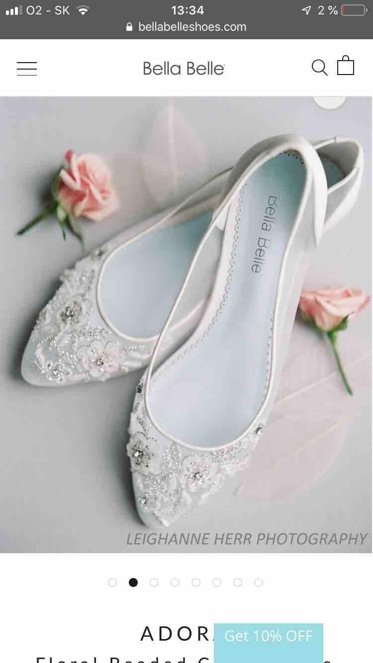 Moje svadobné topánky / balerínky - Obrázok č. 3