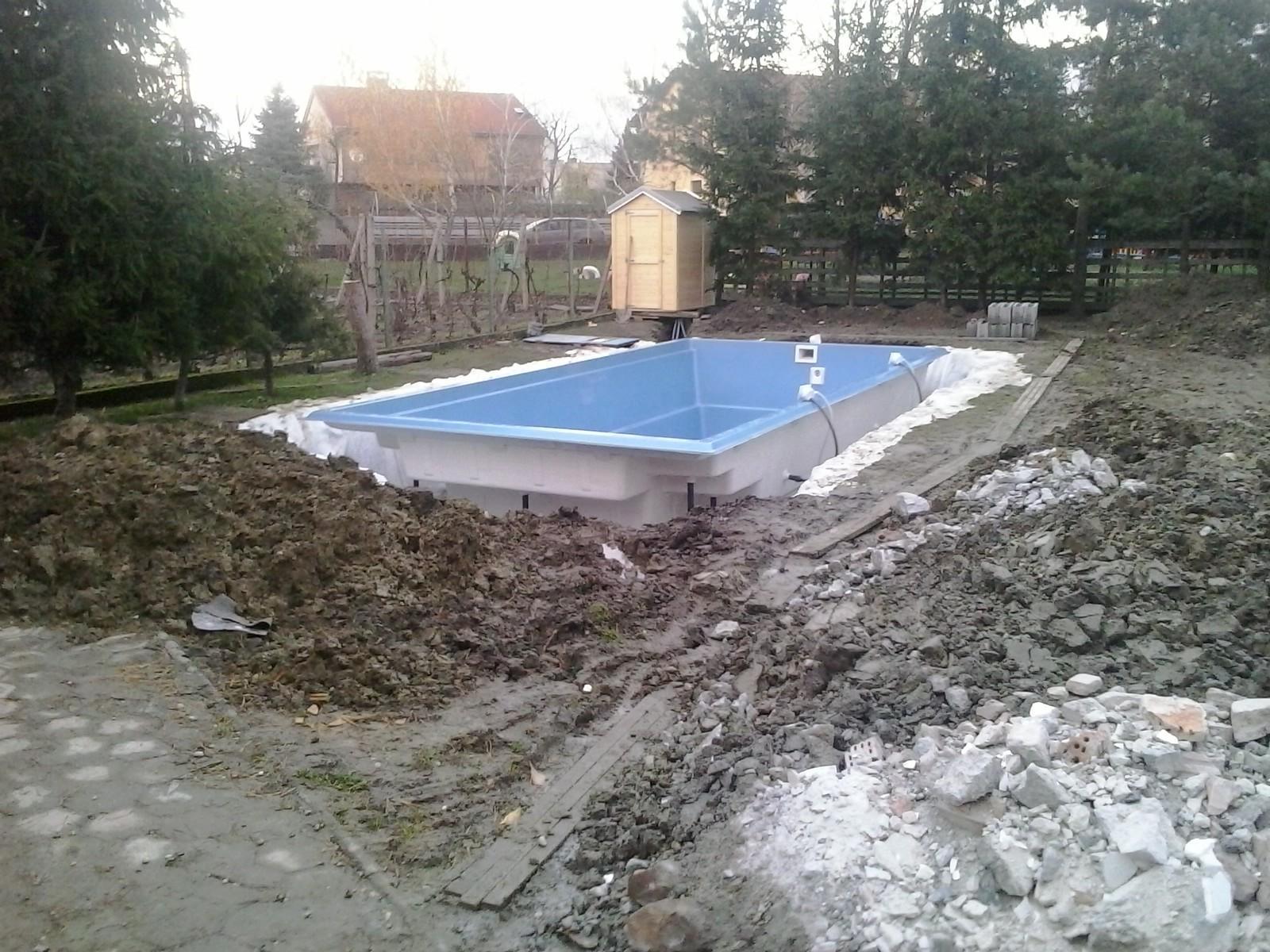Záhrada s bazénom, Pezinok - pred realizáciou