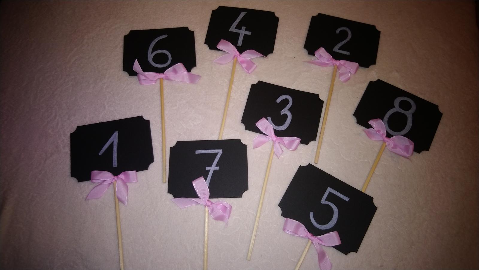 Tabulky na číslování stolů 1-8 - Obrázok č. 1
