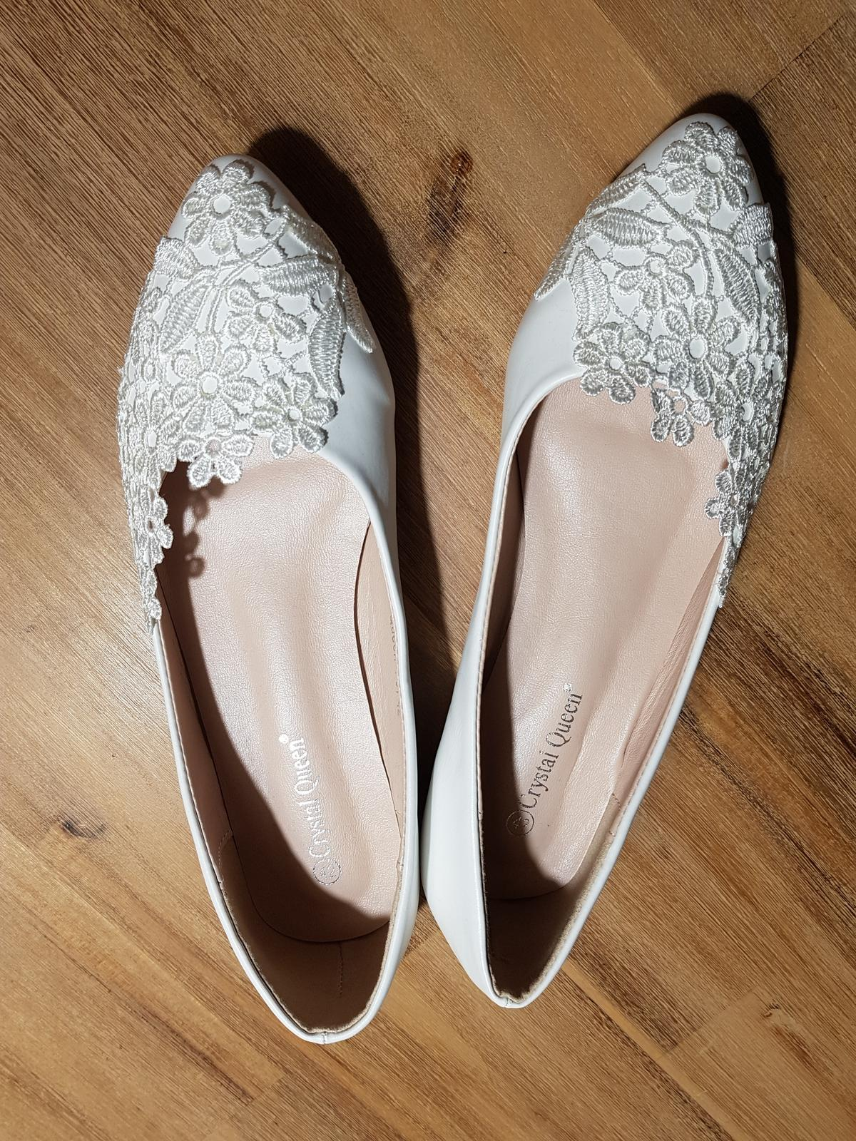 svatební baleríny - nové nenošené - Obrázek č. 2