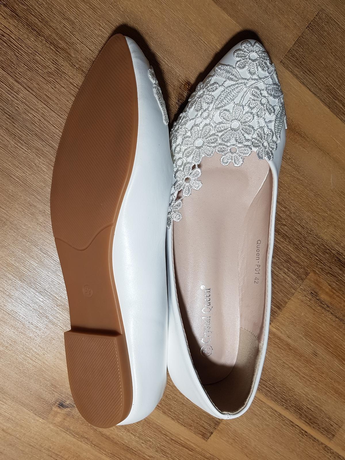 svatební baleríny - nové nenošené - Obrázek č. 3