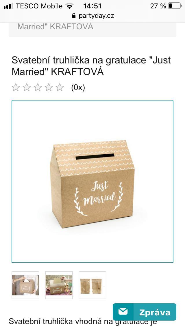 Papírová krabička (domeček) na gratulace - Obrázek č. 1