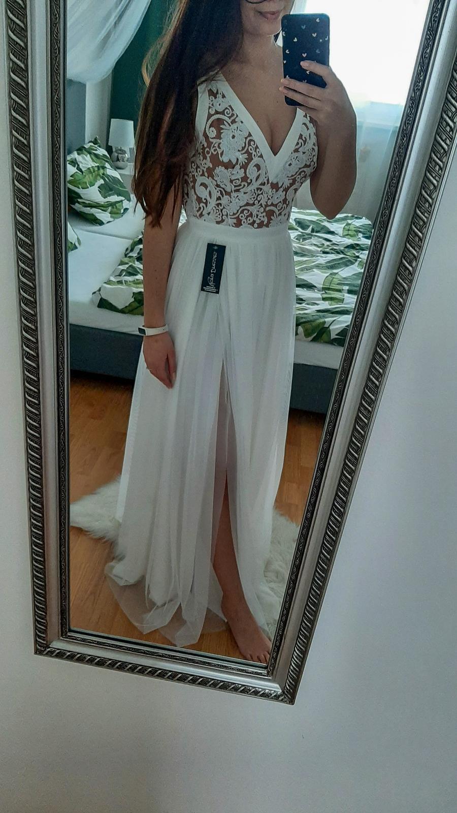 Predám biele šaty. - Obrázok č. 1