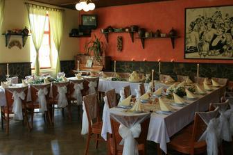 misto svatebni hostiny hotel Ceska Kanada, takhle asi bude vypadat vyzdoba stolu.