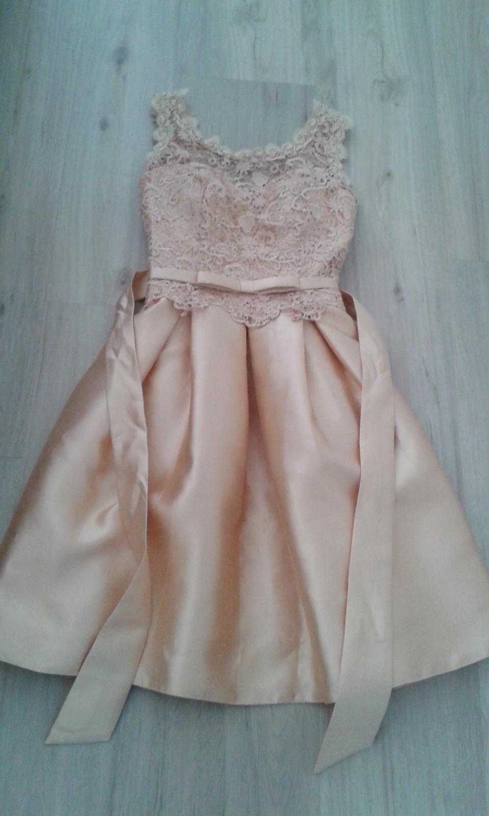 Zlaté spoločenské šaty veľ. S/M - Obrázok č. 1