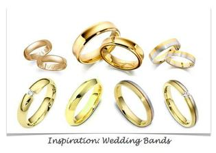 And the rings should be very simple and elegant: just like these