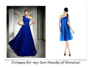 decided and ordered: two lovely chiffon royal blue dresses for my maids of honour