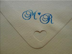 heart & monogram on the envelope :-)