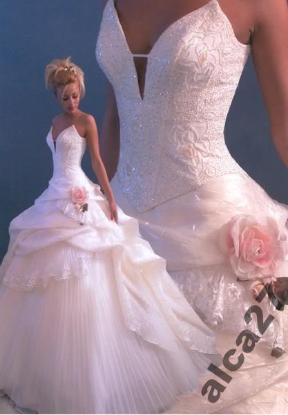 Malinovo-bílo-šedá svatba - Zajímavý vršek.