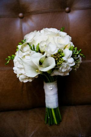 Sny a inšpirácie - kytica aj výzdoba sály bude bielo-zelená