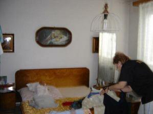 tak na tomto mieste teraz máme kuchynu predtým to bola babenkina spálňa