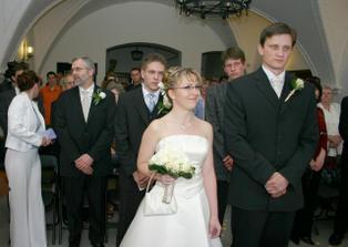 príchod do svadobnej siene