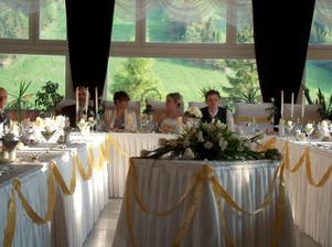 takto krásne sme mali pripravené stolovanie...