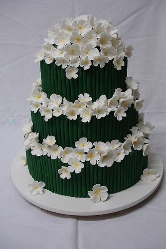 Cake and other things... - ivory with red flowers maybe