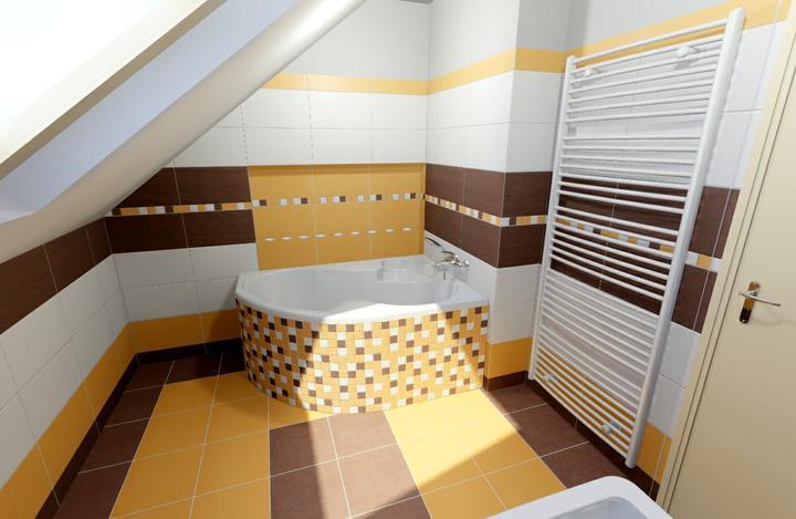 Návrhy koupelen - Detail obložení vany a niky za vanou