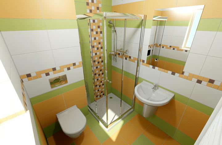 Návrhy koupelen - Obklady veneto arncio, olivo a bianco, dlažba veneto arancio a olivo