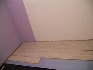 podlaha v druhej detskej izbe