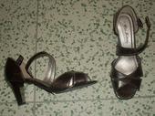 trblietavé sandálky-hnedý odtieň, 37