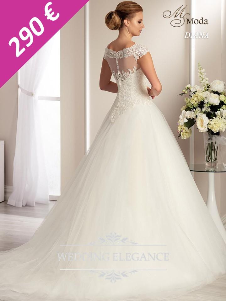 Svadobné šaty - biele - veľkosť 42-44 - Obrázok č. 3