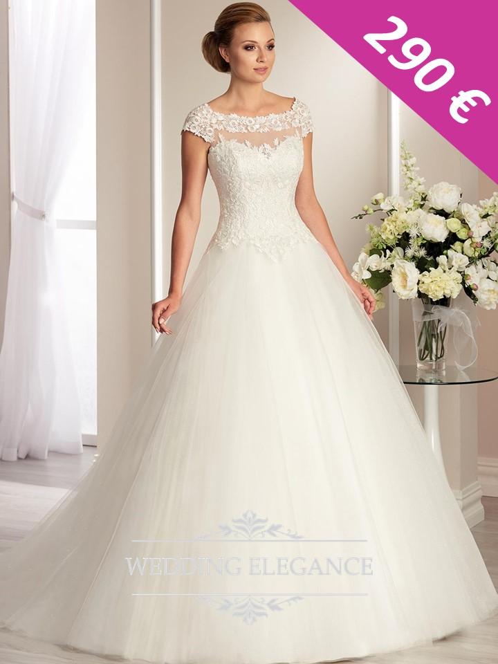 Svadobné šaty - biele - veľkosť 42-44 - Obrázok č. 2