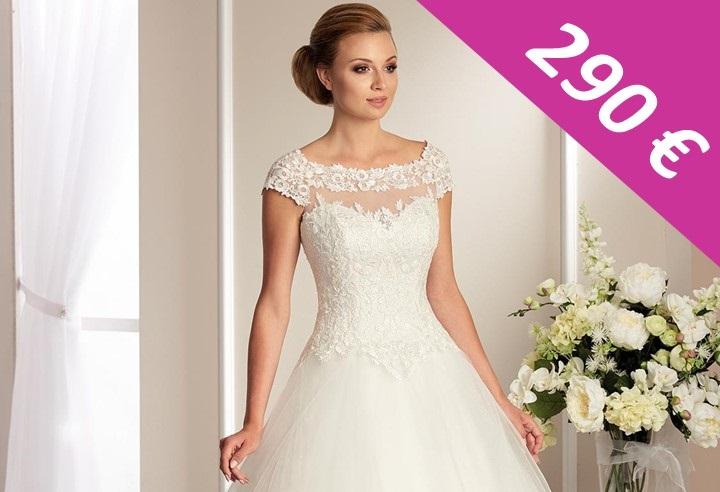 Svadobné šaty - biele - veľkosť 42-44 - Obrázok č. 1