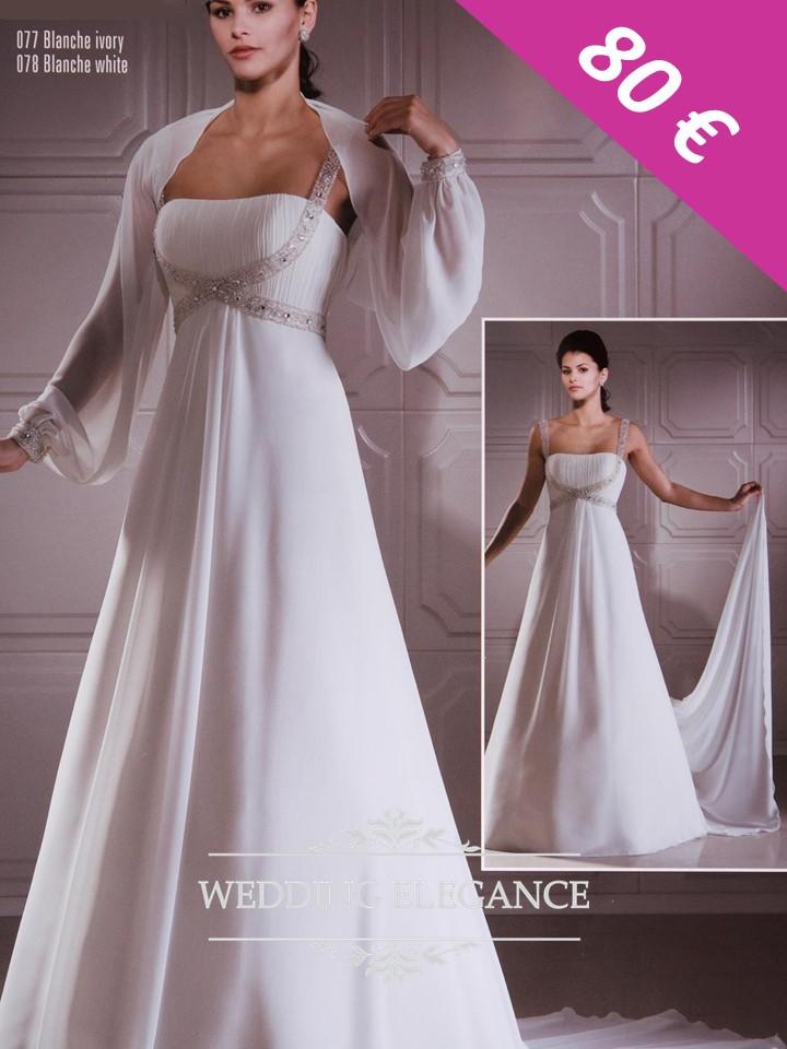 Svadobné šaty aj pre tehotné - 42-46 - Obrázok č. 1