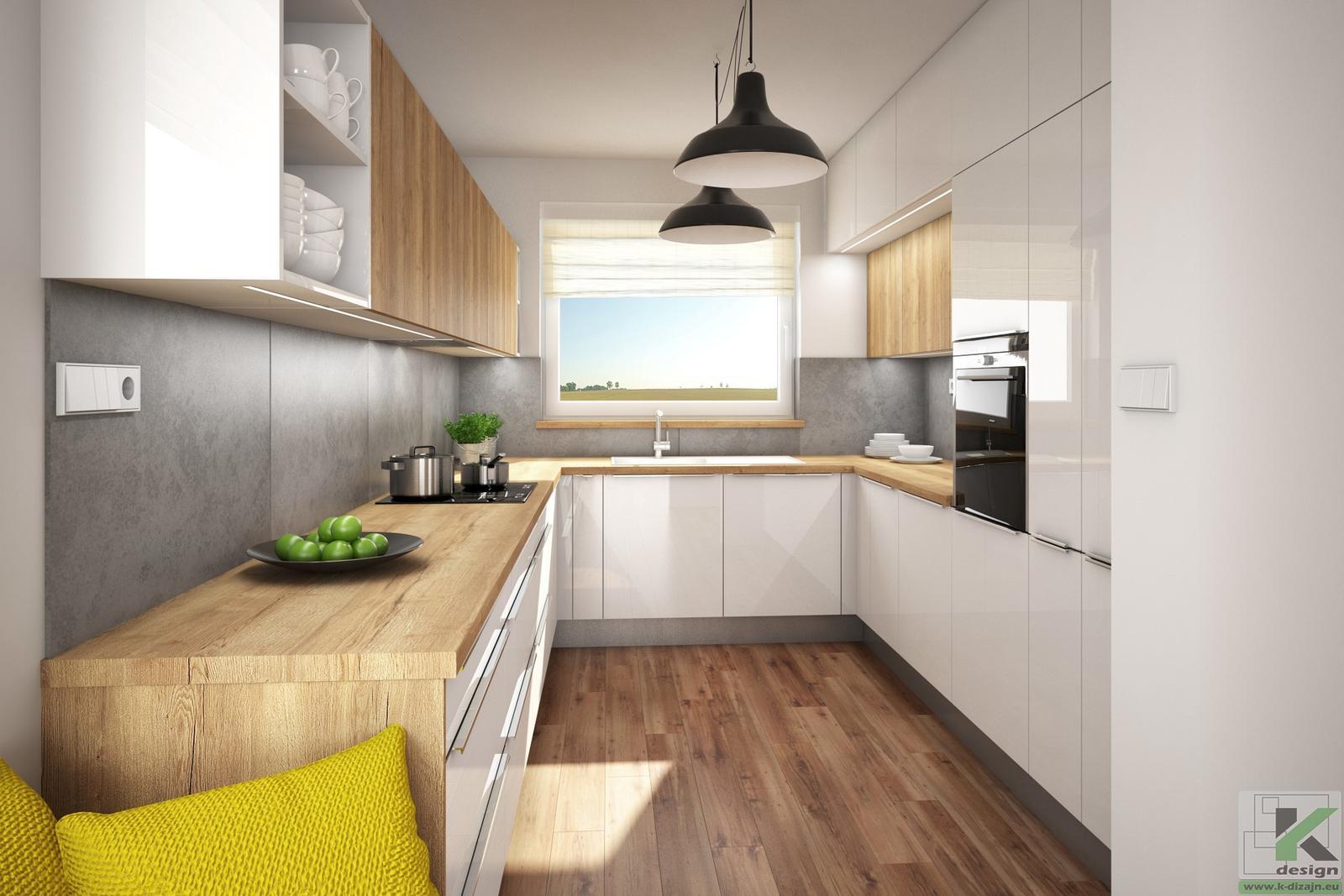Vizualizácie kuchyne so sedením - Obrázok č. 2