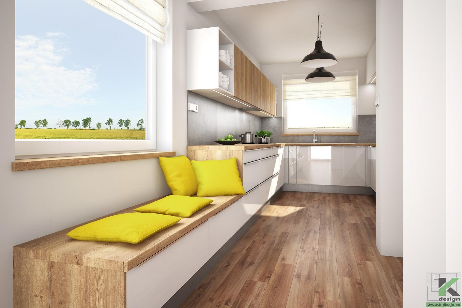 Vizualizácie kuchyne so sedením - Obrázok č. 1
