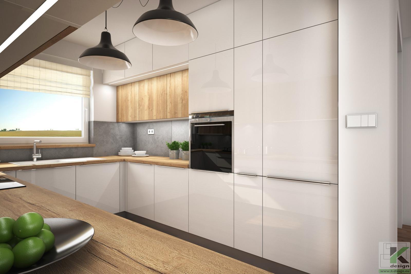 Vizualizácie kuchyne so sedením - Obrázok č. 3