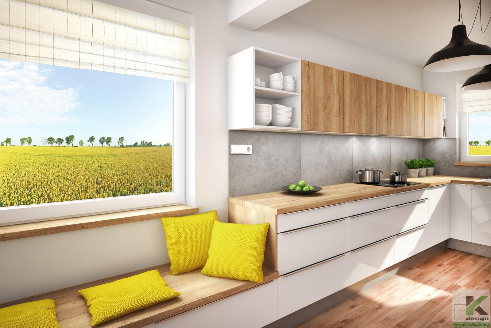 Vizualizácie kuchyne so sedením - Obrázok č. 6