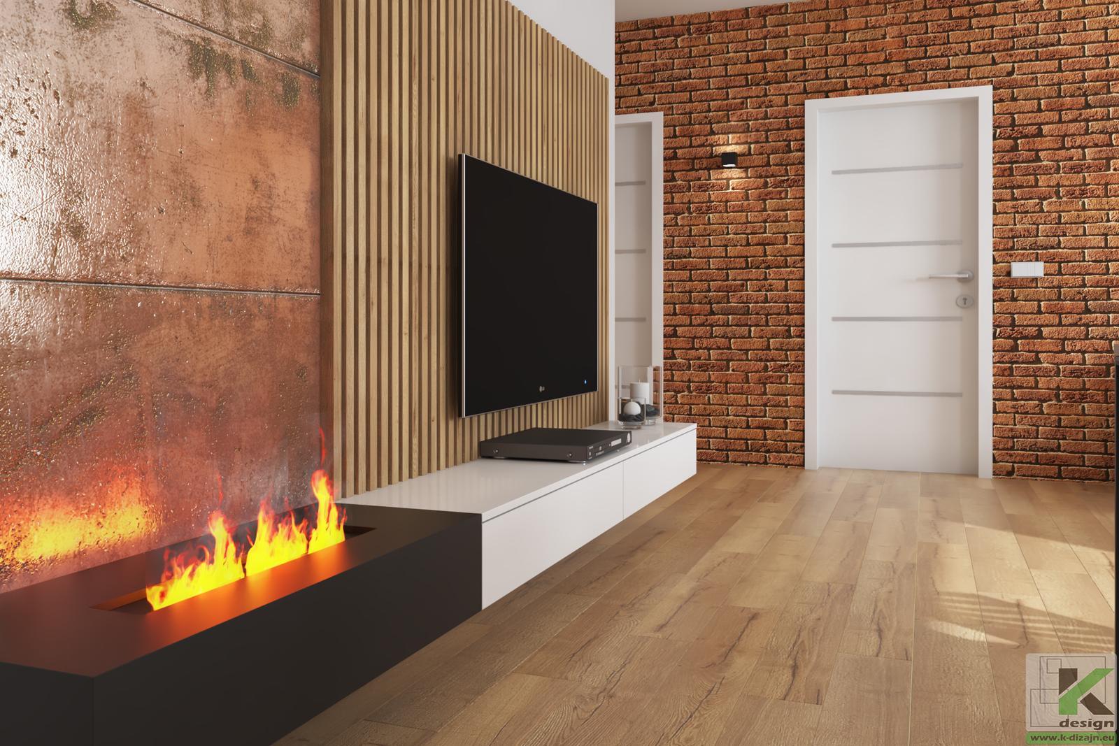 Vizualizácia - malá kuchyňa s obývačkou... - Obrázok č. 1