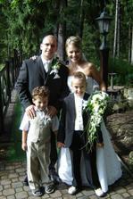 my dvaja a naše detičky, braček Jakub (ten mensí) a krsňa Erik