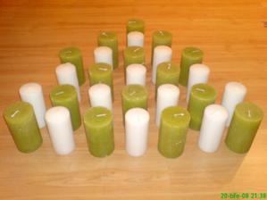 máme doma;) svíčky na stoly