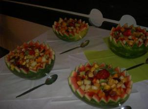 ovocné melounové mísy