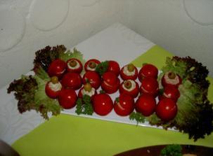 plněná rajčátka