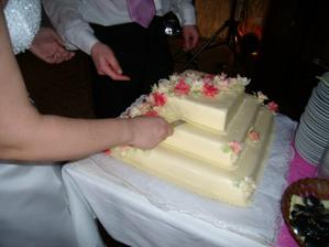 odřezávání dortu