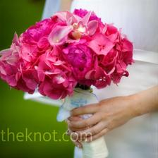Růžová kytice.