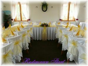 Tak takto vypadal náš svatební stůl v restauraci START..