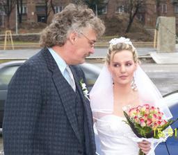 A tady je nevěsta s otcem
