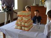 zajímavý svatební dort