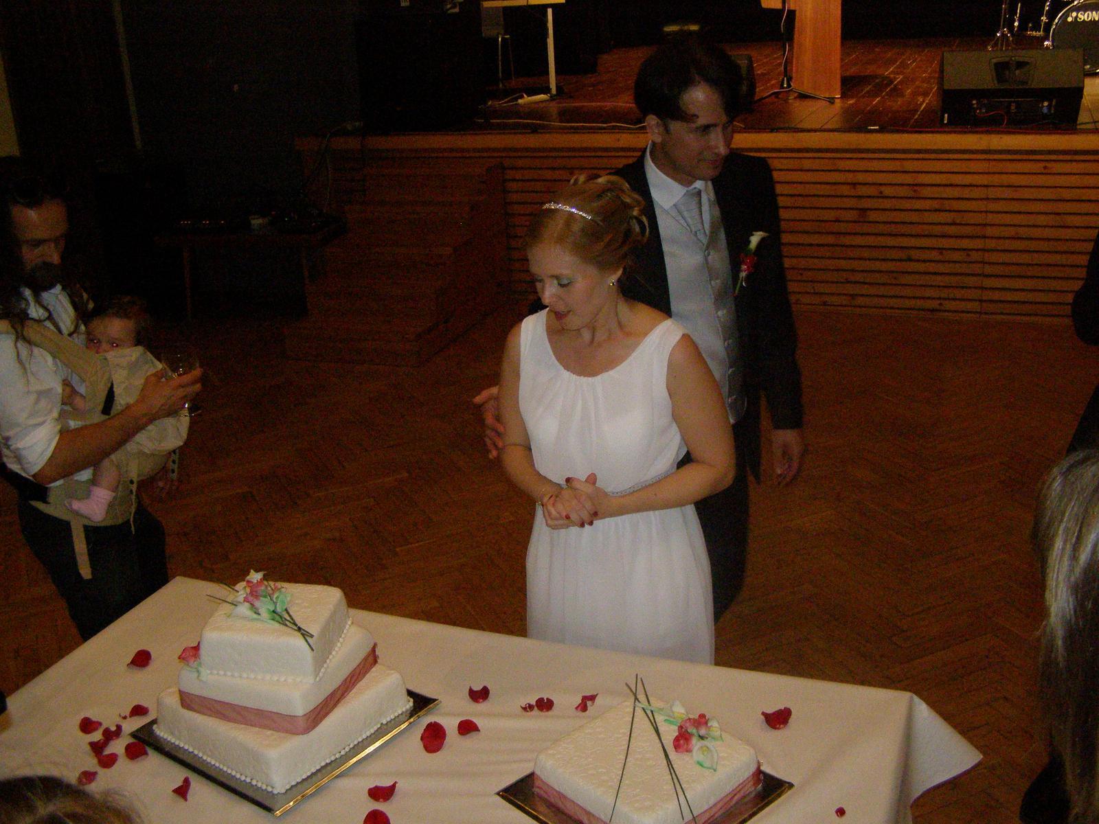 Svatba Lída Čermáková & Jiří Haut - krájení svatebního dortu